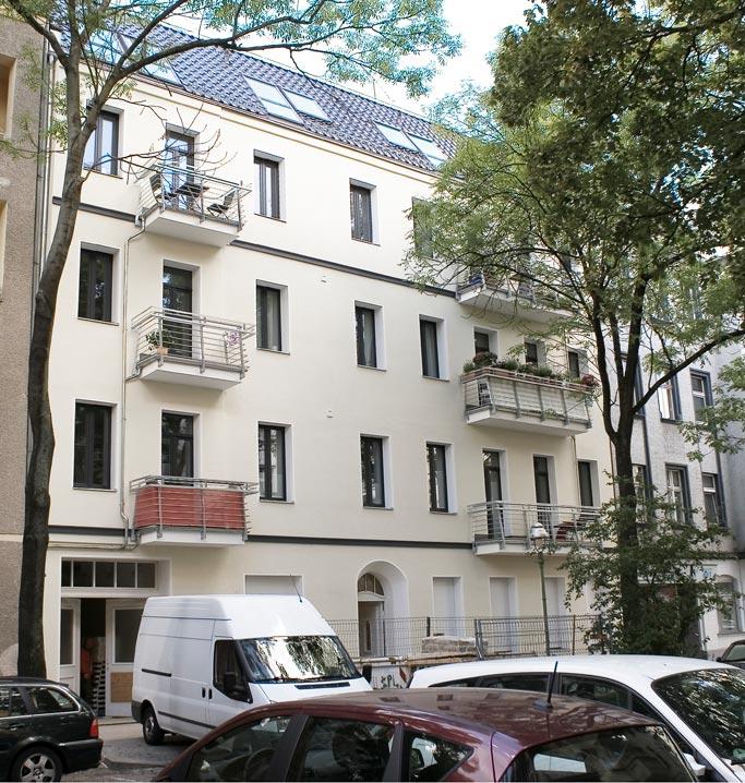Metzer Straße Außenansicht Balkone