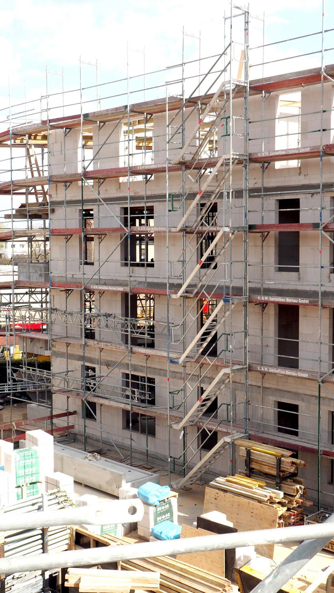 apartmentanlage albert schweitzer baustelle Fassade